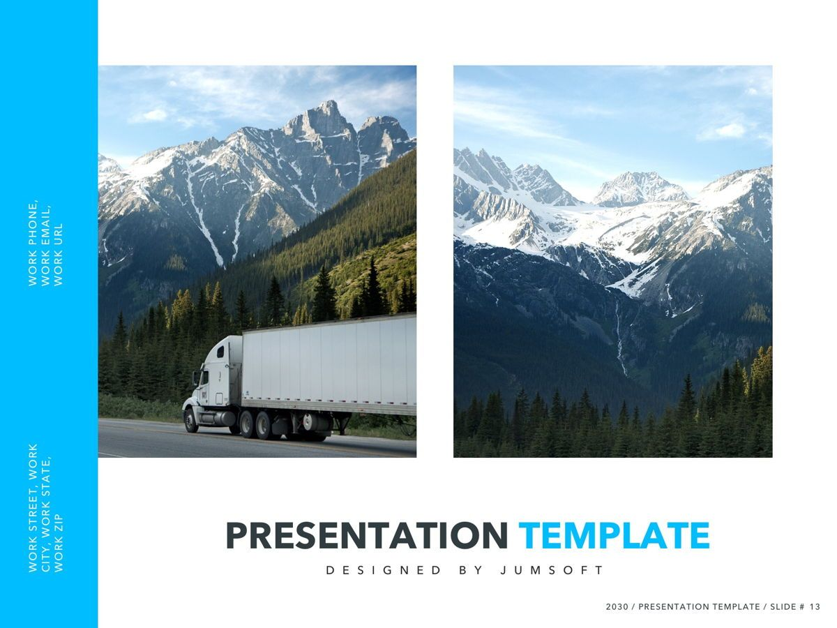 Logistics PowerPoint Theme, Slide 14, 05204, Presentation Templates — PoweredTemplate.com
