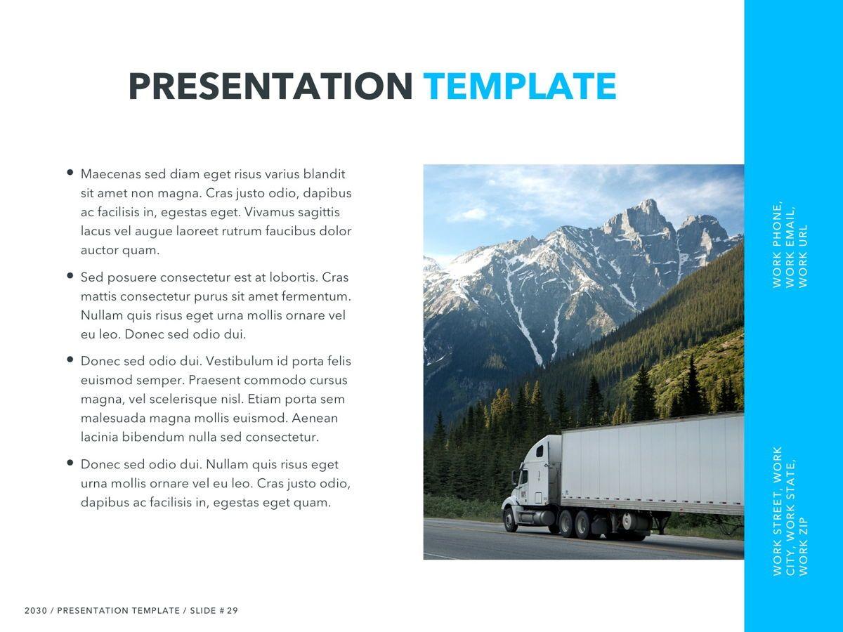 Logistics PowerPoint Theme, Slide 30, 05204, Presentation Templates — PoweredTemplate.com