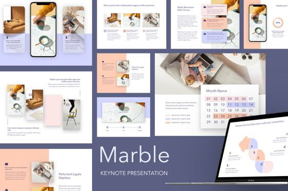Presentation Templates: Marble Keynote Template #05208
