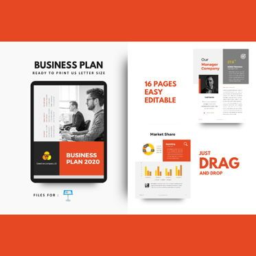 Business Models: Business Plan 2020 Presentation Keynote Template #05213