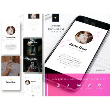 Presentation Templates: Instagram stories testimonial collection #05219