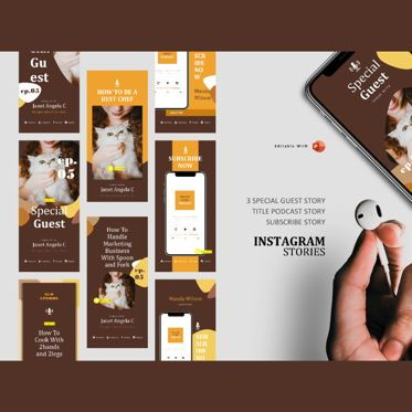 Presentation Templates: Podcast instagram stories and post template #05220