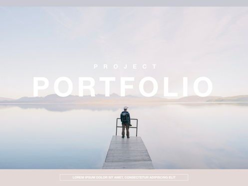 Presentation Templates: Pastel Portfolio Google Slides Presentation Template #05226