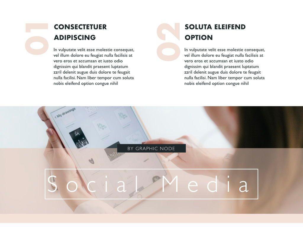 Social Media Showcase Google Slides Presentation Template, Slide 3, 05238, Presentation Templates — PoweredTemplate.com