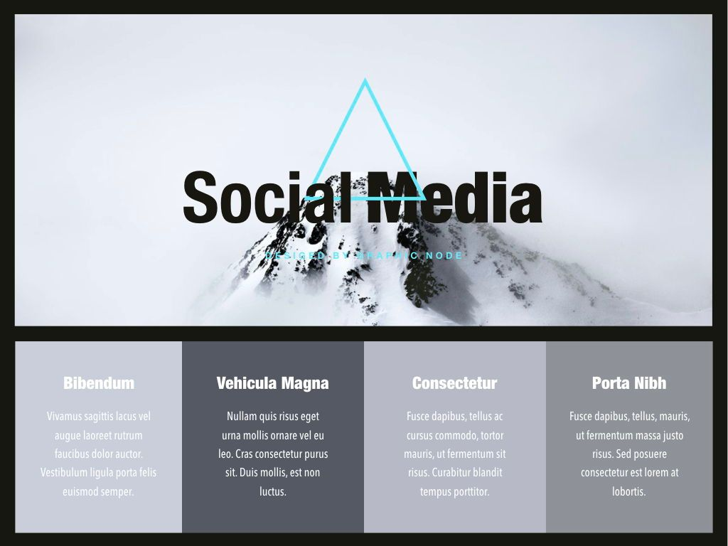 Top Social Google Slides Presentation Template, Slide 4, 05247, Presentation Templates — PoweredTemplate.com