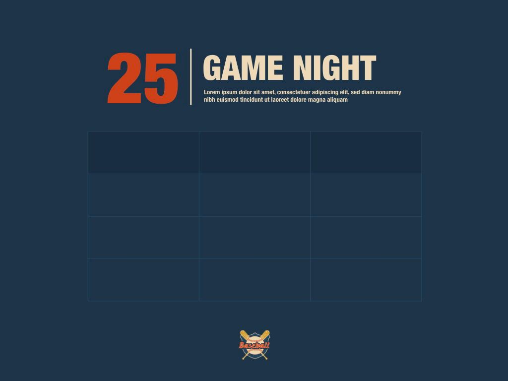 Game Night Keynote Presentation Template, Slide 11, 05258, Presentation Templates — PoweredTemplate.com