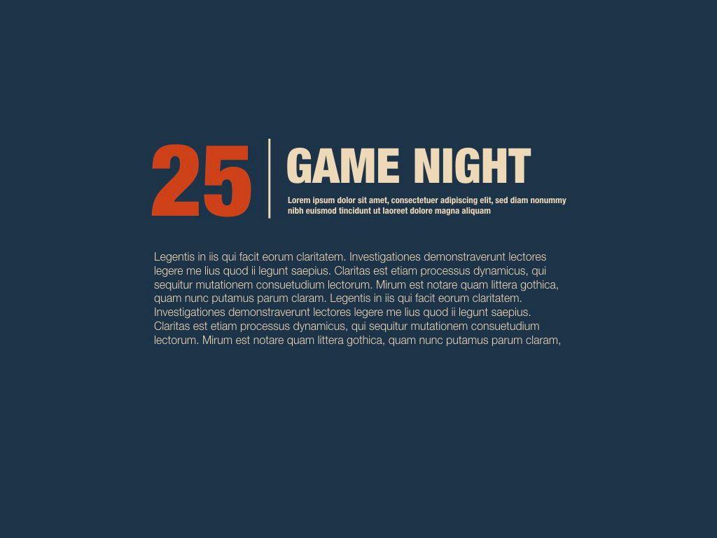 Game Night Keynote Presentation Template, Slide 14, 05258, Presentation Templates — PoweredTemplate.com