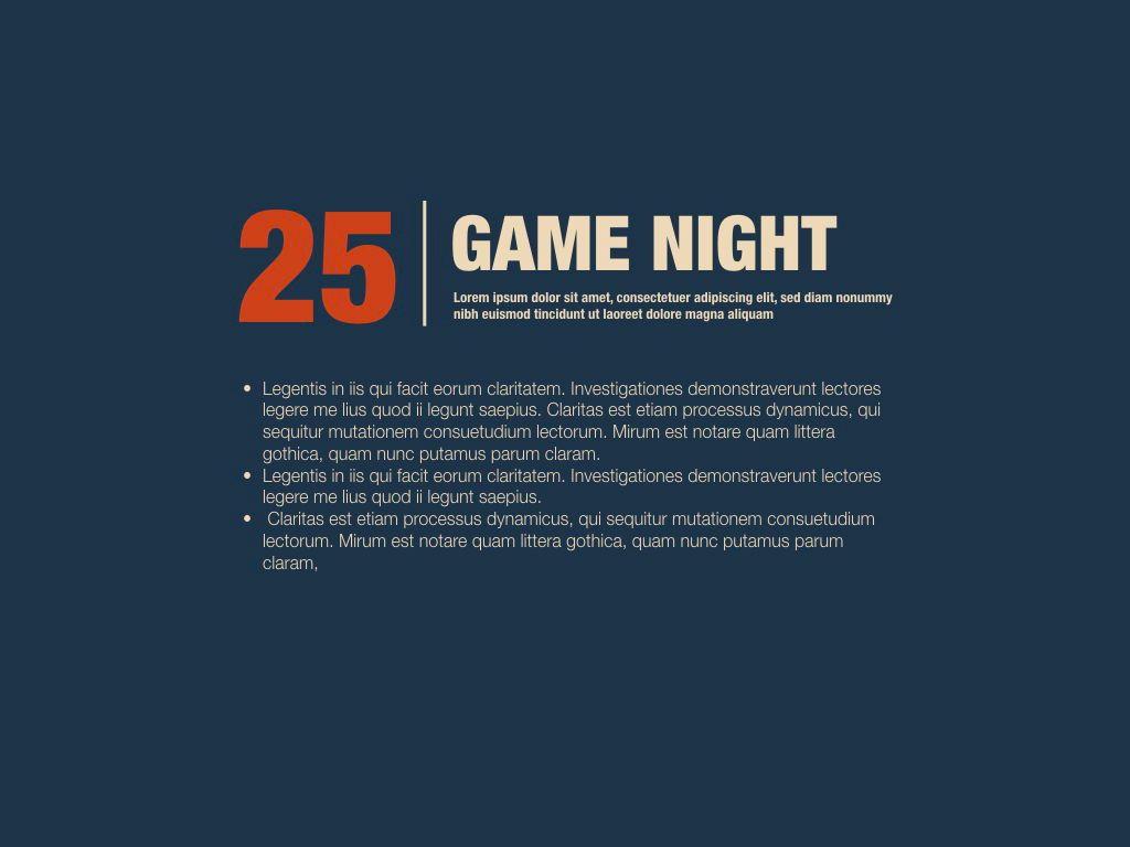 Game Night Keynote Presentation Template, Slide 15, 05258, Presentation Templates — PoweredTemplate.com
