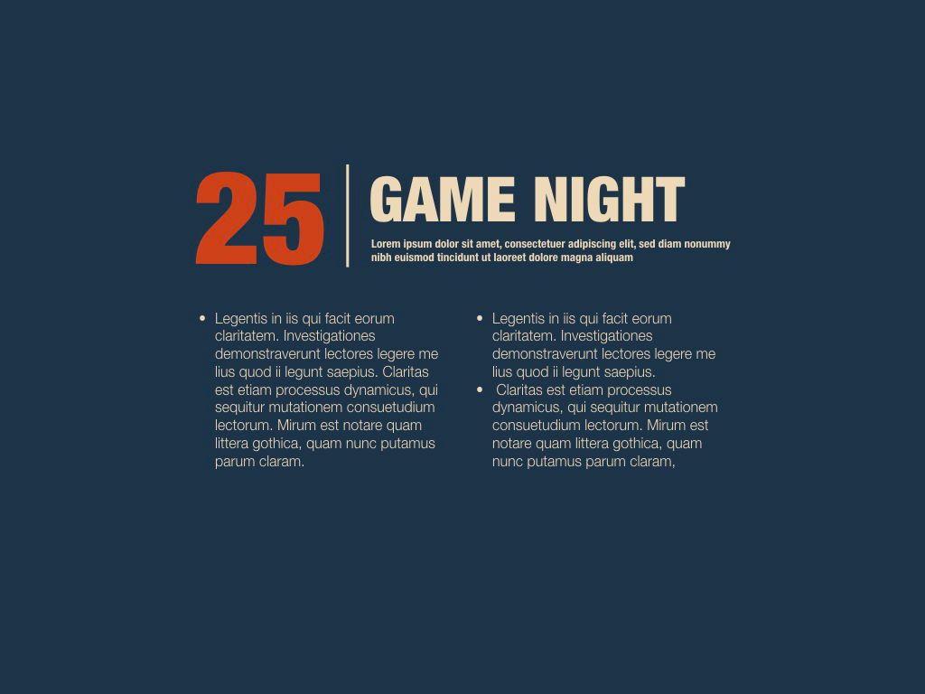 Game Night Keynote Presentation Template, Slide 16, 05258, Presentation Templates — PoweredTemplate.com