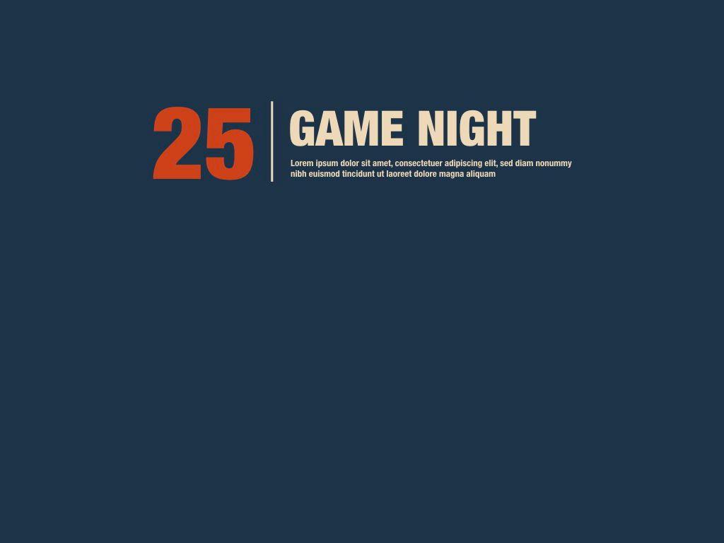 Game Night Keynote Presentation Template, Slide 18, 05258, Presentation Templates — PoweredTemplate.com
