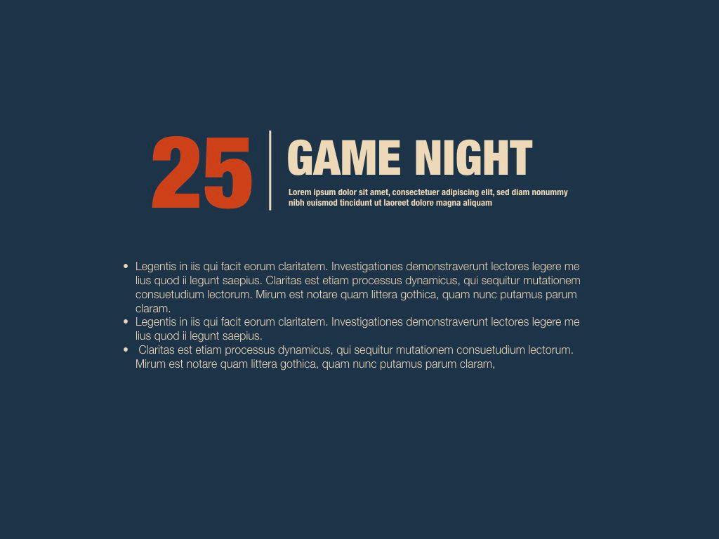 Game Night Keynote Presentation Template, Slide 9, 05258, Presentation Templates — PoweredTemplate.com