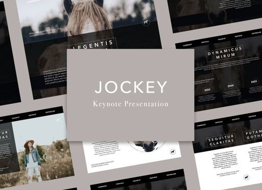 Presentation Templates: Jockey Keynote Presentation Template #05261