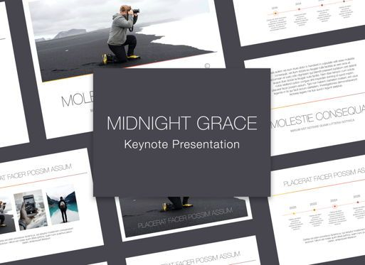 Presentation Templates: Minimal Grace Keynote Presentation Template #05263