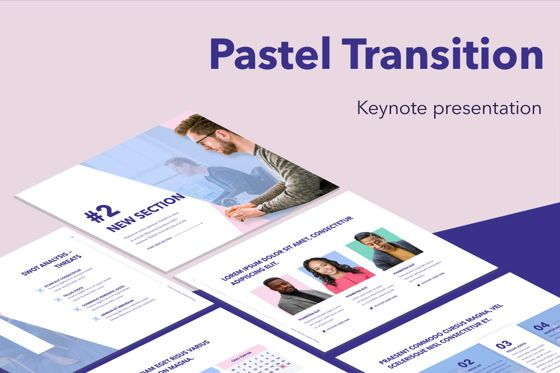 Presentation Templates: Pastel Transition Keynote Template #05267