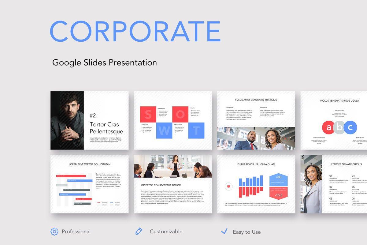 Corporate Google Slides Template, 05269, Presentation Templates — PoweredTemplate.com