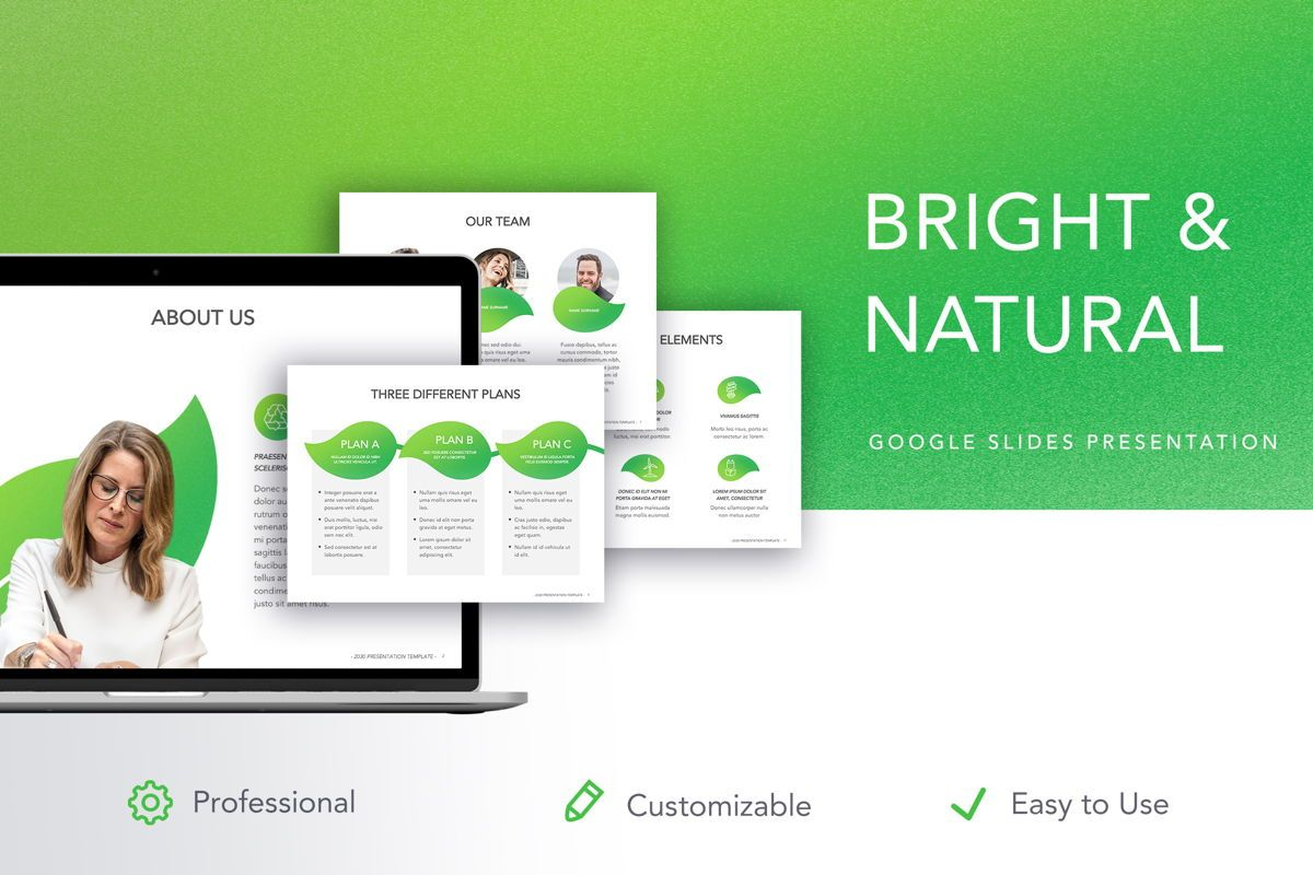 Bright and Natural Google Slides Template, 05270, Präsentationsvorlagen — PoweredTemplate.com