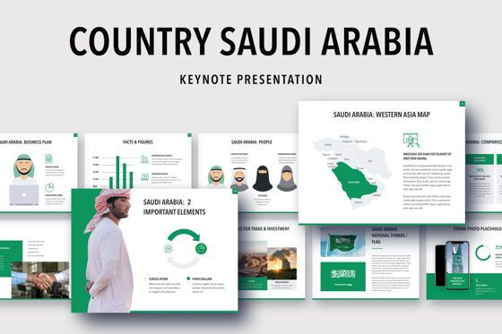 Presentation Templates: Country Saudi Arabia Keynote Template #05273