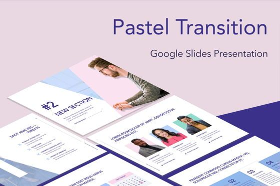 Presentation Templates: Pastel Transition Google Slides Template #05274