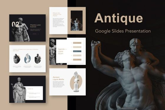 Presentation Templates: Antique Google Slides Template #05275