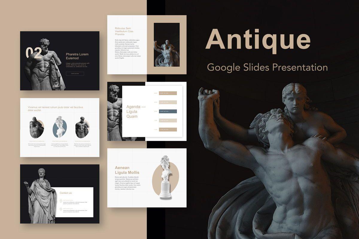 Antique Google Slides Template, 05275, Presentation Templates — PoweredTemplate.com