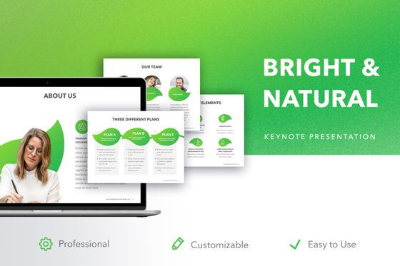 Presentation Templates: Bright and Natural Keynote Template #05276