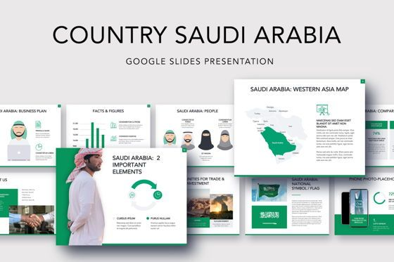 Presentation Templates: Country Saudi Arabia Google Slides Template #05277
