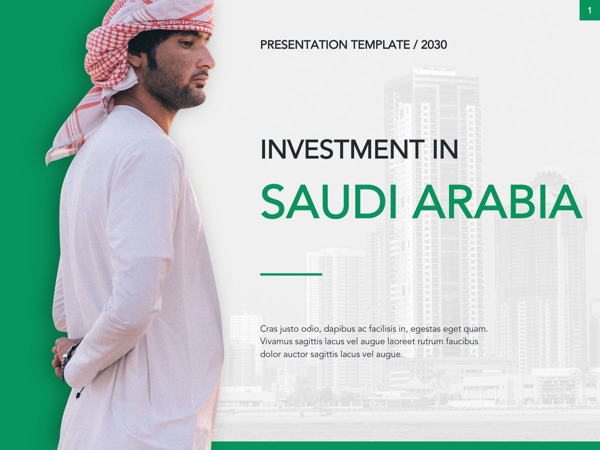 Country Saudi Arabia Google Slides Template, Slide 2, 05277, Presentation Templates — PoweredTemplate.com