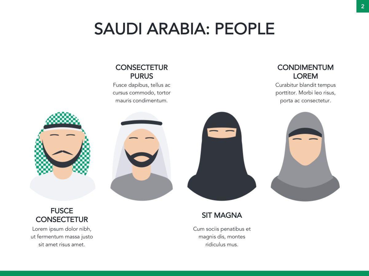 Country Saudi Arabia Google Slides Template, Slide 3, 05277, Presentation Templates — PoweredTemplate.com