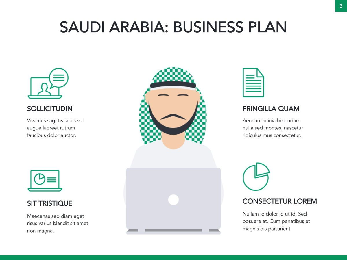 Country Saudi Arabia Google Slides Template, Slide 4, 05277, Presentation Templates — PoweredTemplate.com
