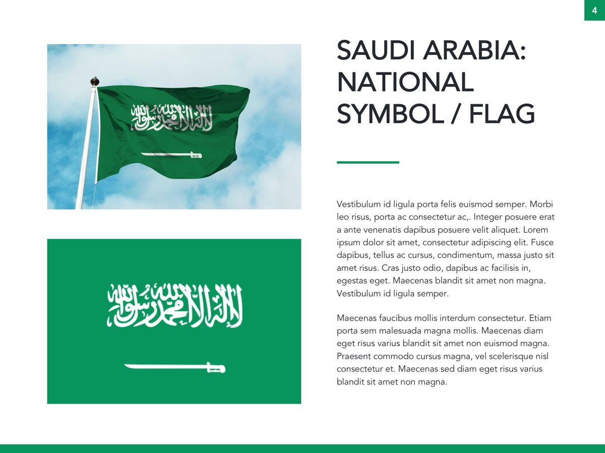 Country Saudi Arabia Google Slides Template, Slide 5, 05277, Presentation Templates — PoweredTemplate.com