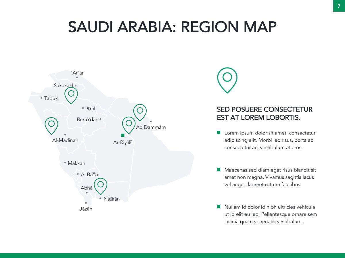 Country Saudi Arabia Google Slides Template, Slide 8, 05277, Presentation Templates — PoweredTemplate.com