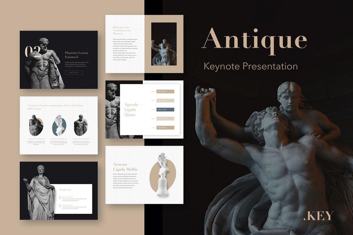 Antique Keynote Template, 05278, Presentation Templates — PoweredTemplate.com