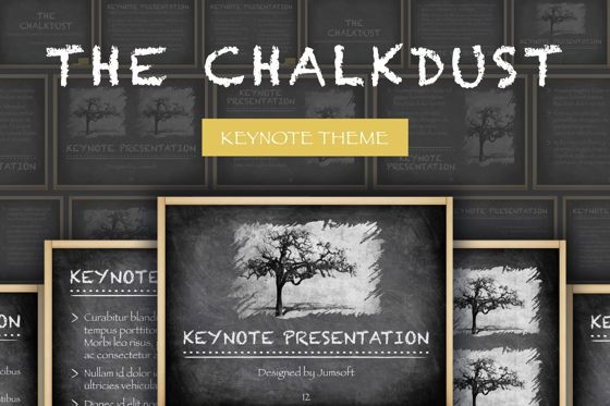 Education Charts and Diagrams: The Chalkdust Keynote Template #05282