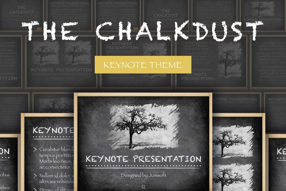 The Chalkdust Keynote Template, 05282, Education Charts and Diagrams — PoweredTemplate.com