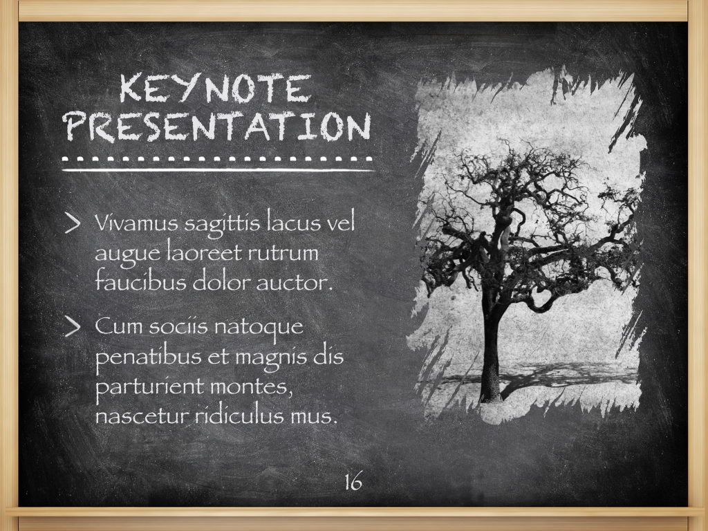 The Chalkdust Keynote Template, Slide 17, 05282, Education Charts and Diagrams — PoweredTemplate.com