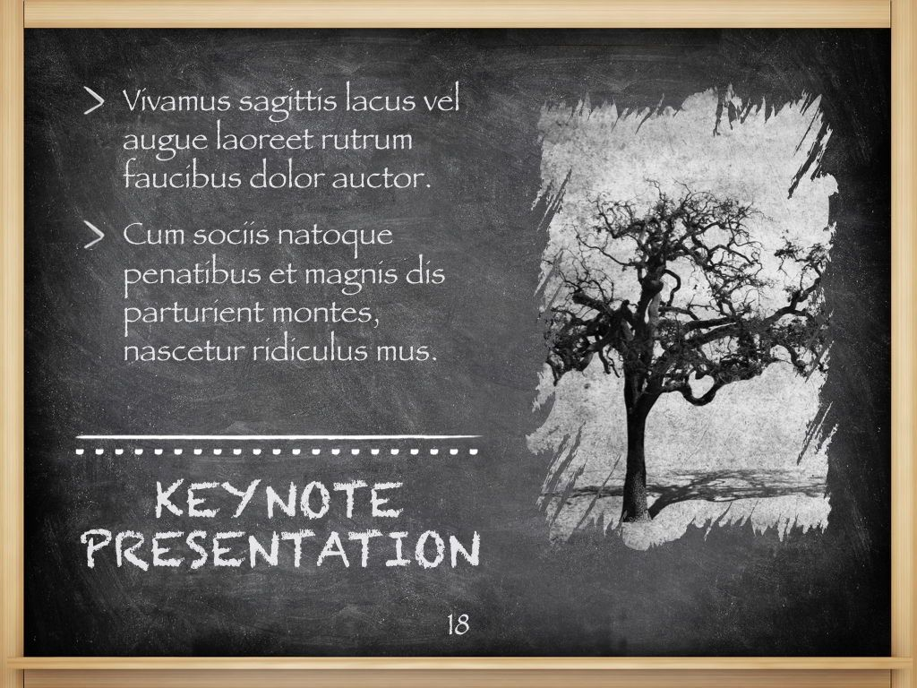 The Chalkdust Keynote Template, Slide 19, 05282, Education Charts and Diagrams — PoweredTemplate.com