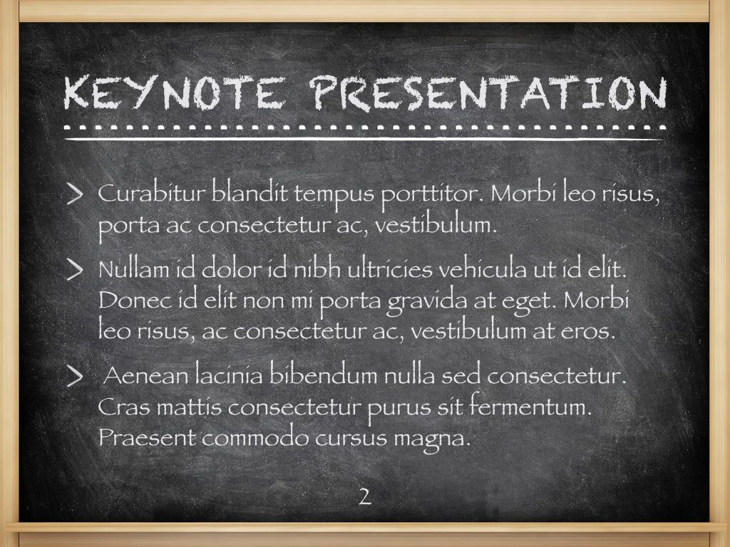The Chalkdust Keynote Template, Slide 3, 05282, Education Charts and Diagrams — PoweredTemplate.com