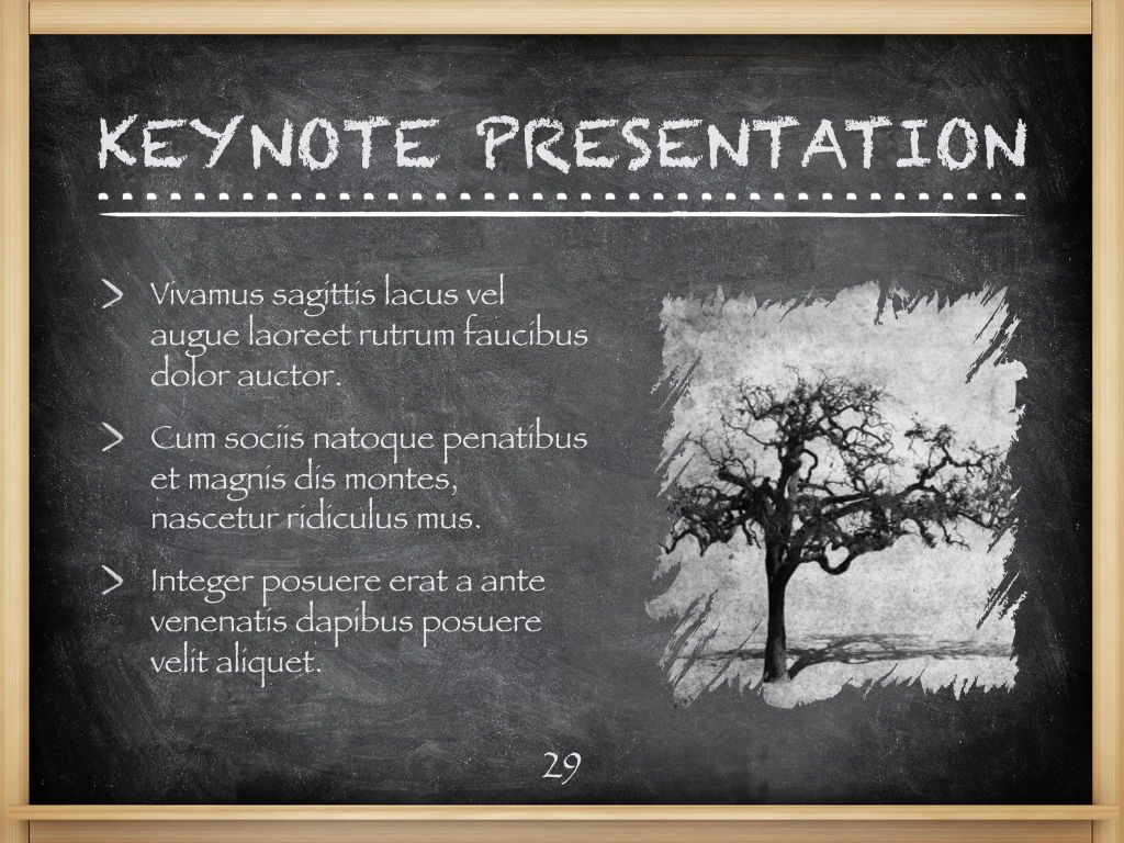 The Chalkdust Keynote Template, Slide 30, 05282, Education Charts and Diagrams — PoweredTemplate.com