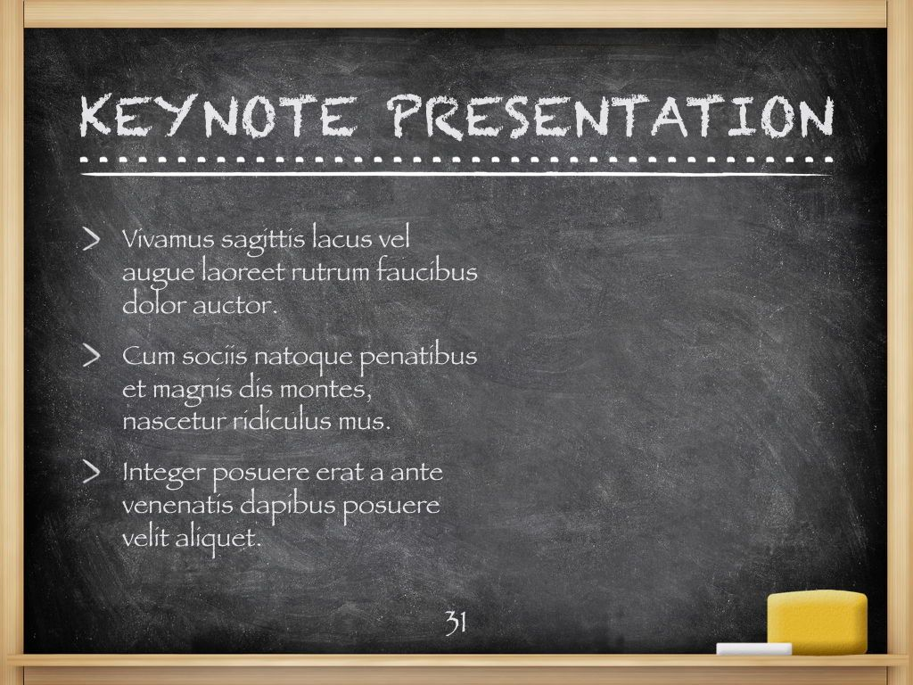 The Chalkdust Keynote Template, Slide 32, 05282, Education Charts and Diagrams — PoweredTemplate.com