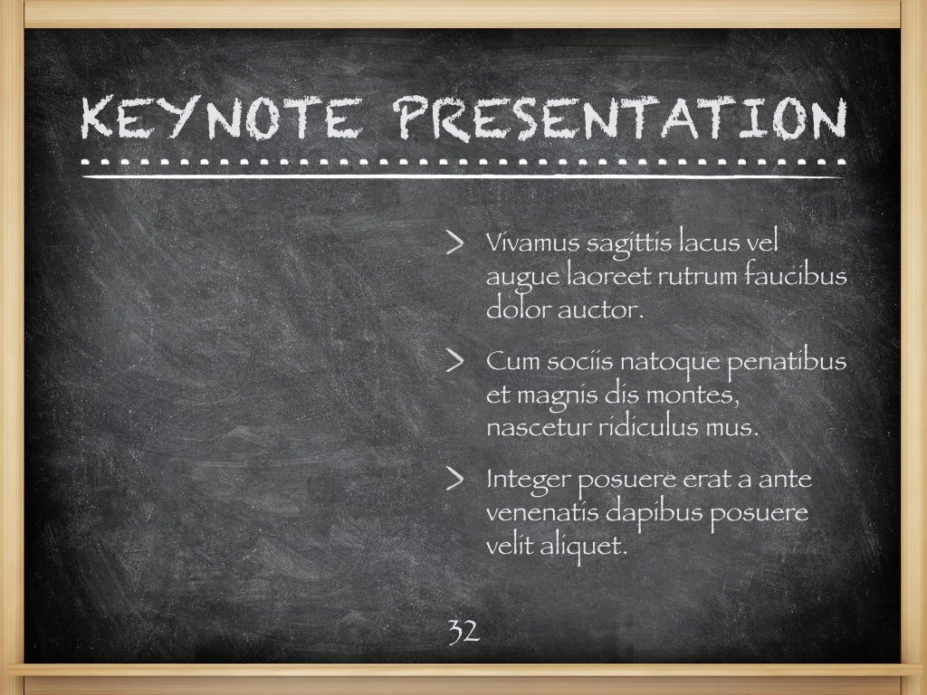 The Chalkdust Keynote Template, Slide 33, 05282, Education Charts and Diagrams — PoweredTemplate.com