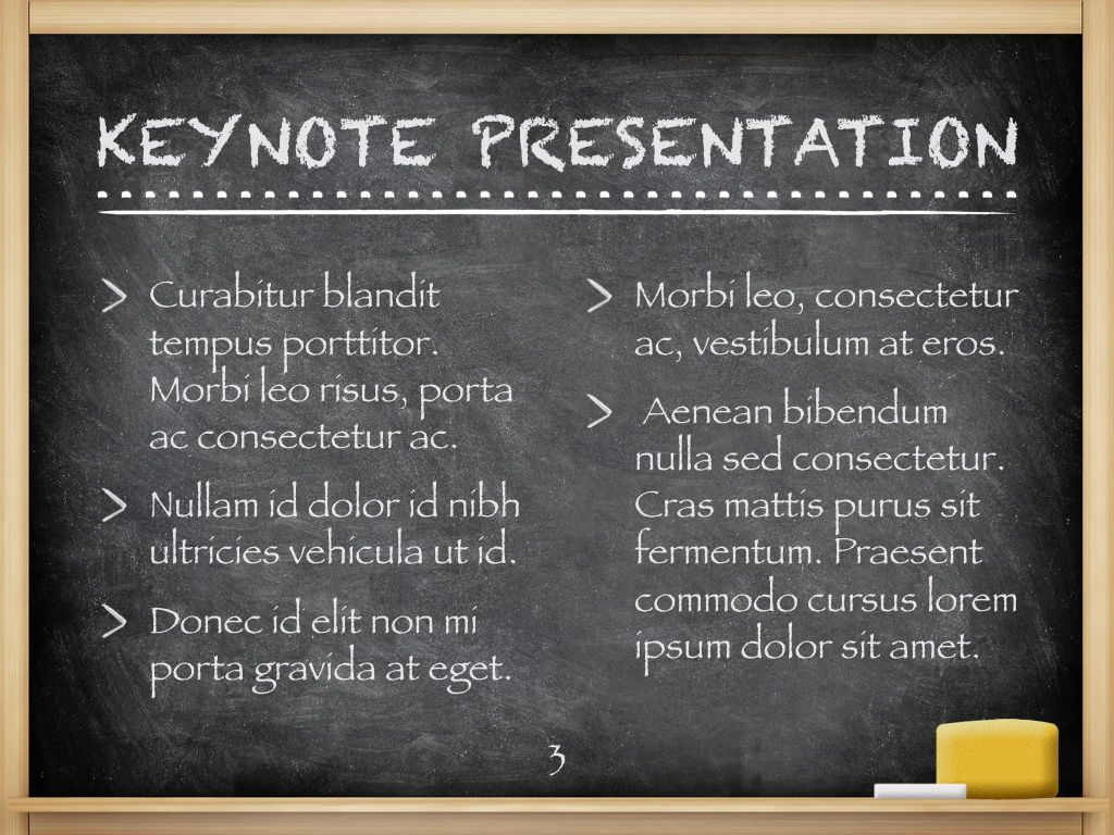 The Chalkdust Keynote Template, Slide 4, 05282, Education Charts and Diagrams — PoweredTemplate.com