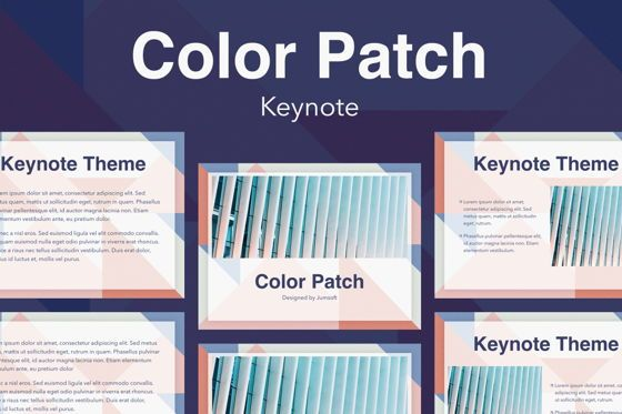 Presentation Templates: Color Patch Keynote Template #05283