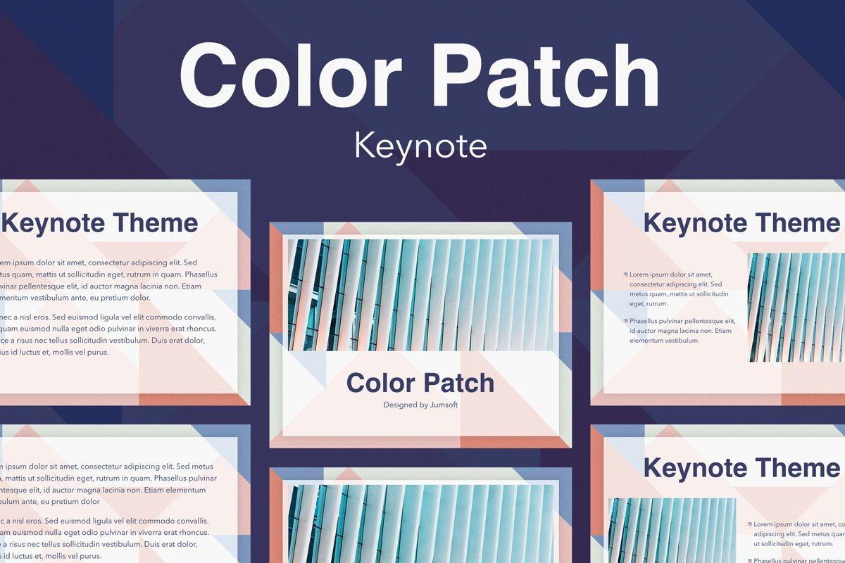 Color Patch Keynote Template, 05283, Presentation Templates — PoweredTemplate.com