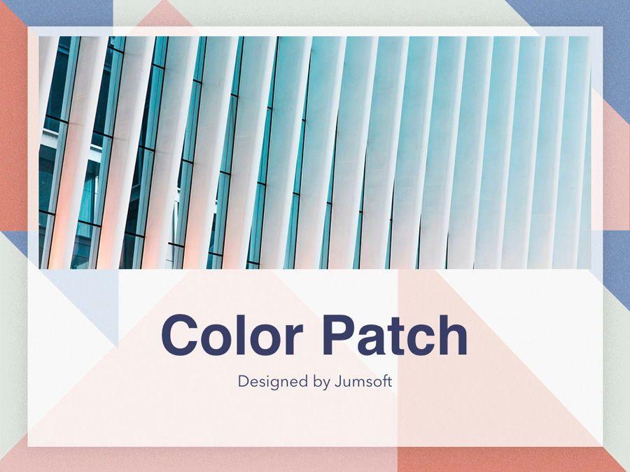 Color Patch Keynote Template, Slide 13, 05283, Presentation Templates — PoweredTemplate.com
