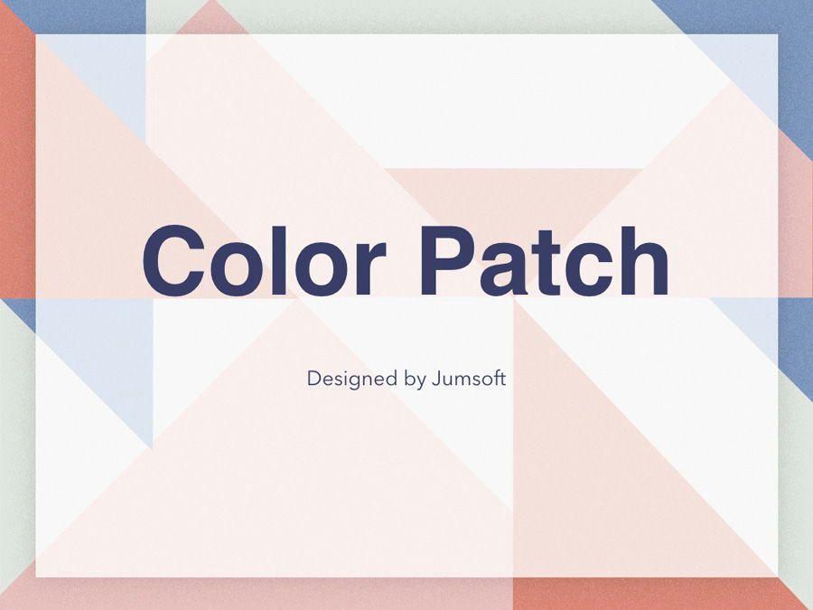 Color Patch Keynote Template, Slide 2, 05283, Presentation Templates — PoweredTemplate.com