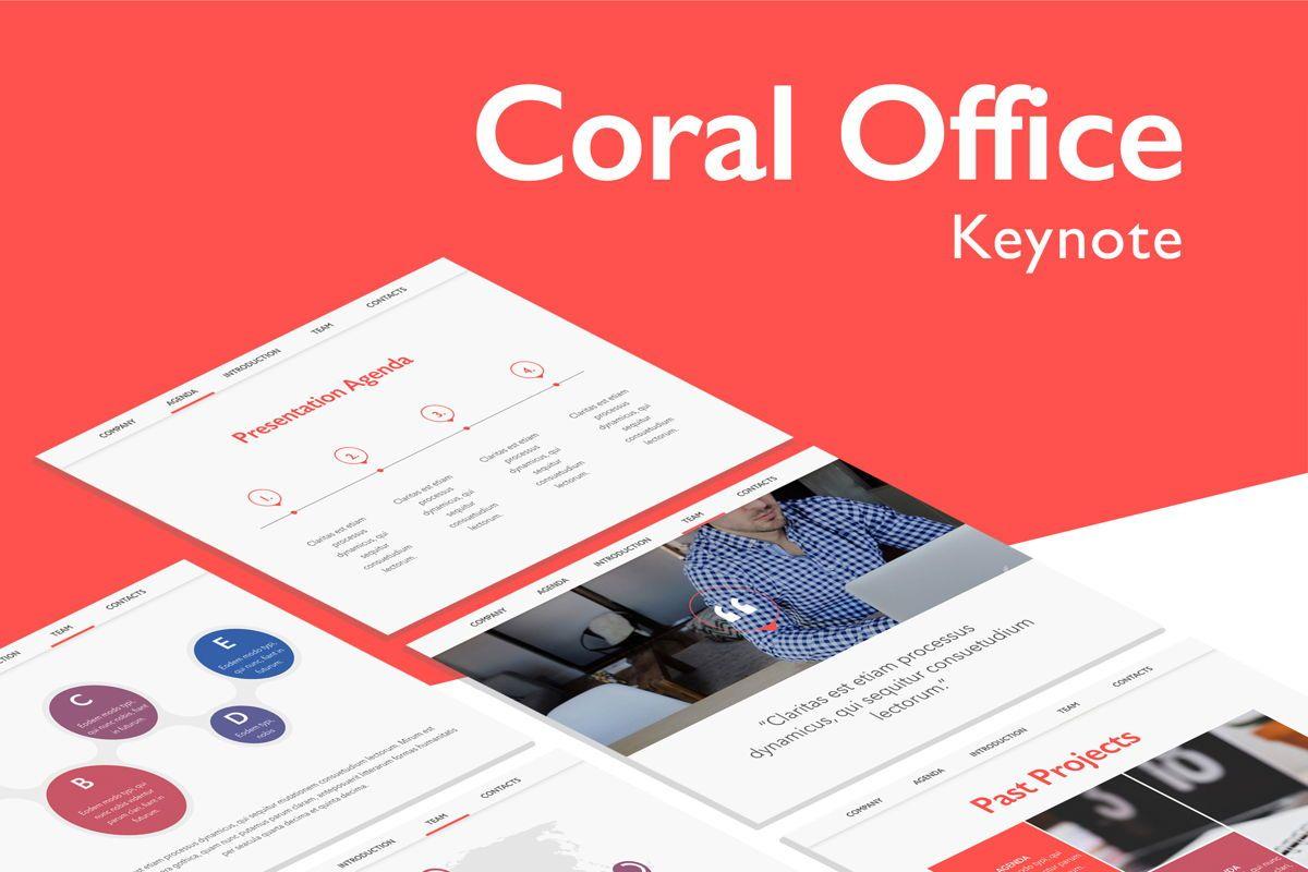 Coral Office Keynote Template, 05284, Presentation Templates — PoweredTemplate.com