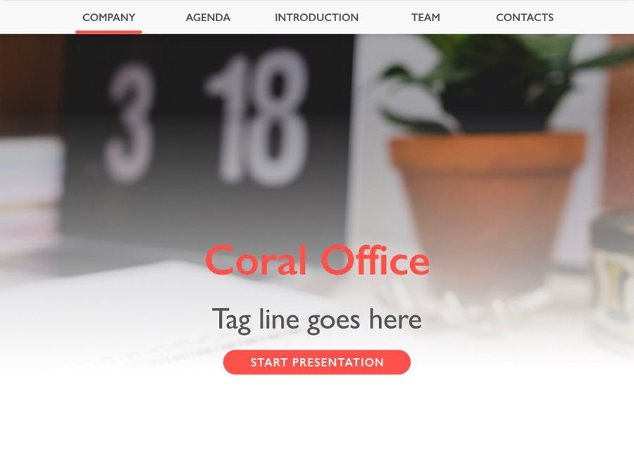 Coral Office Keynote Template, Slide 2, 05284, Presentation Templates — PoweredTemplate.com