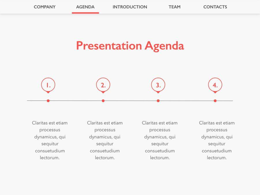Coral Office Keynote Template, Slide 3, 05284, Presentation Templates — PoweredTemplate.com