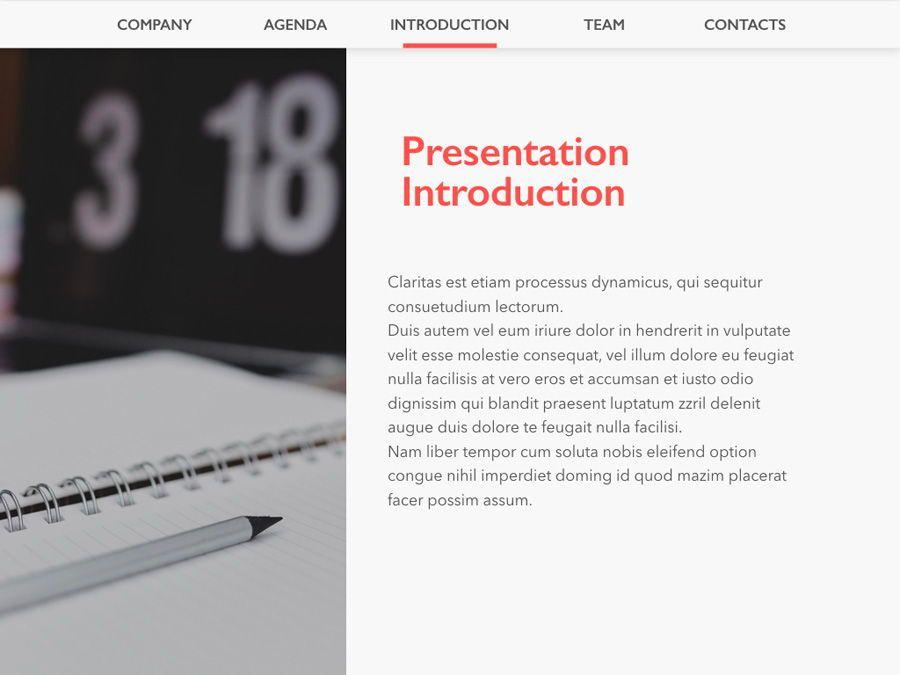 Coral Office Keynote Template, Slide 4, 05284, Presentation Templates — PoweredTemplate.com