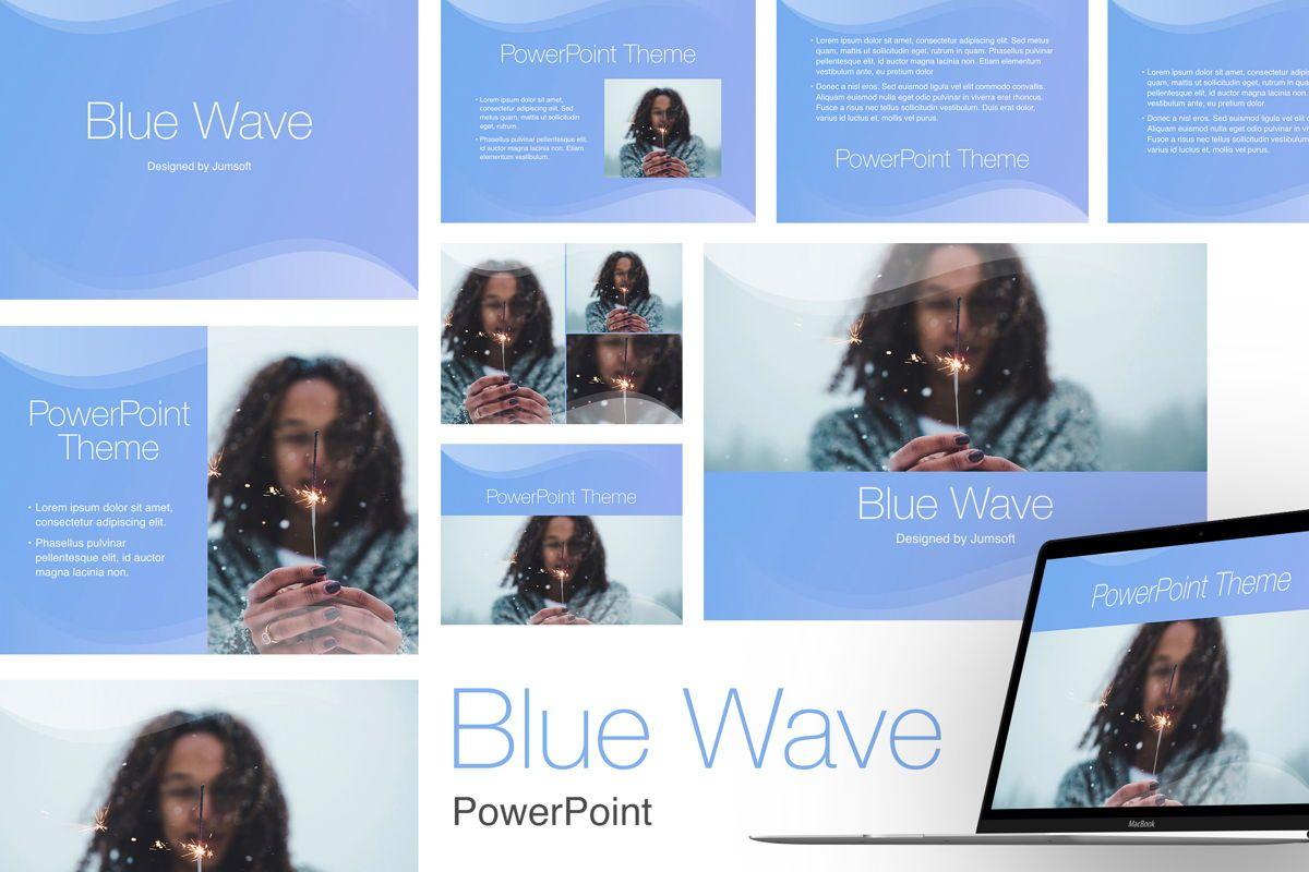 Blue Wave PowerPoint Template, 05286, Presentation Templates — PoweredTemplate.com